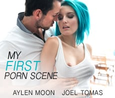 My first porn scene this