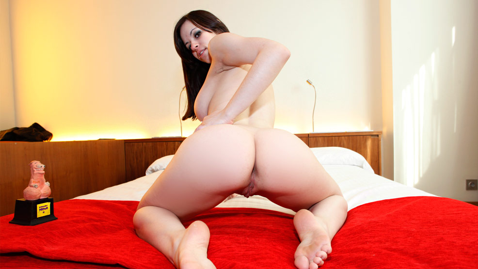 image Amazing slut fucking her big dildo for me