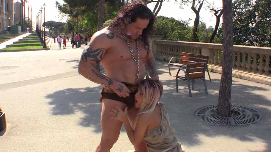 Barbarian nails his hot slave