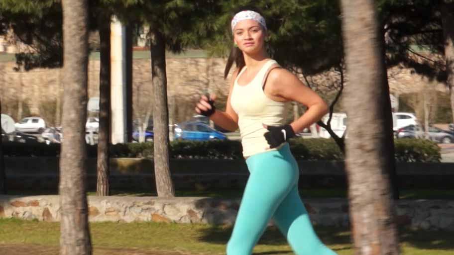 Hot latin runner girl