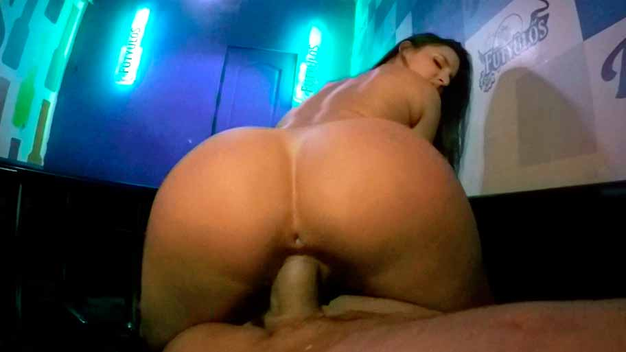 Fucking Amirah Adara at the bar