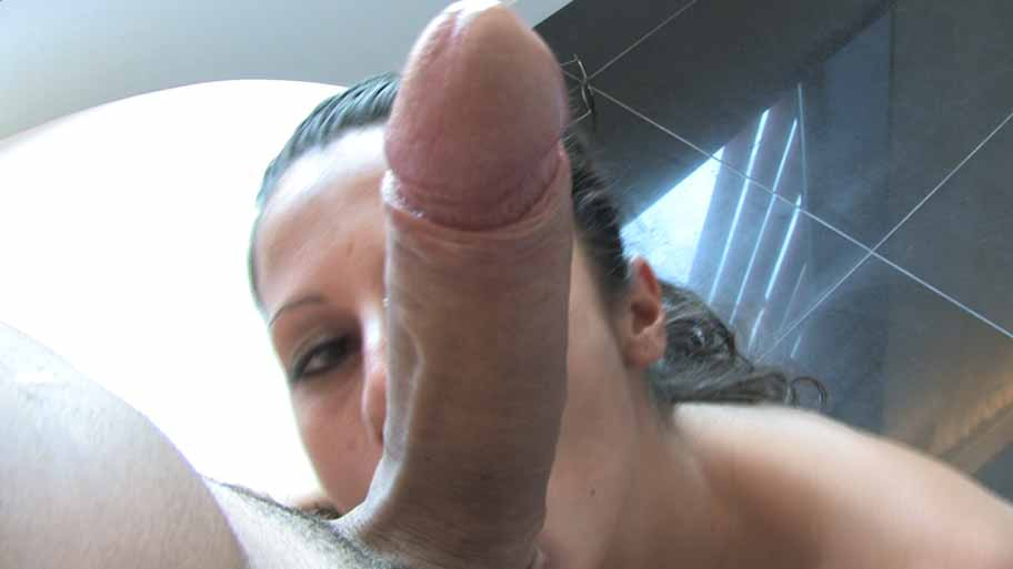 Petite girl rides a big hard dick