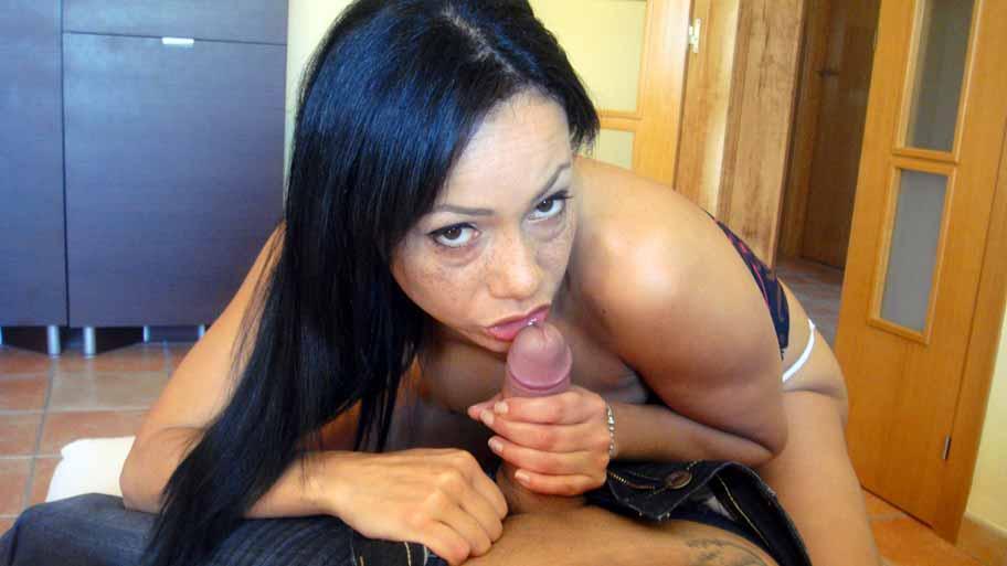 Tasteful wife handjob